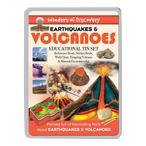 Wonders of Learning Volcanoes Large Tin Set