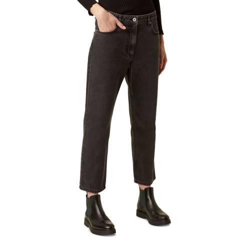 Great Plains Black Straight Leg Cotton Trousers