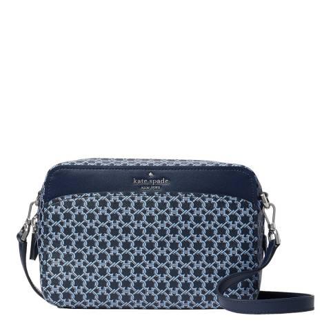 Kate Spade Blue Spade Monogram Camera Bag