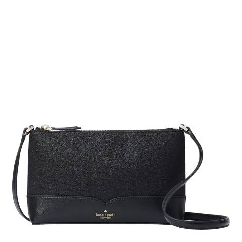 Kate Spade Black Glitter Crossbody Bag