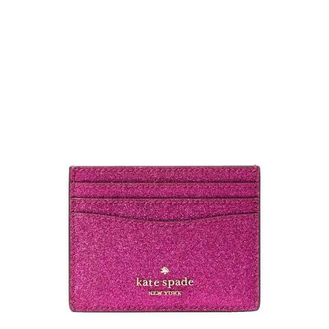 Kate Spade Bright Pink Glitter Slim Card Holder