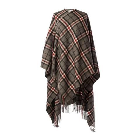 Edinburgh Lambswool Thomson Grey Lambswool Long Tartan Cape