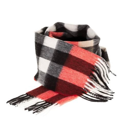 Edinburgh Lambswool Red Black Giant Chequer Lambswool Tartan Scarf