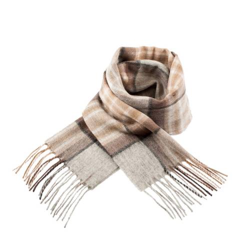 Edinburgh Lambswool Mackellar Natural Lambswool Tartan Scarf