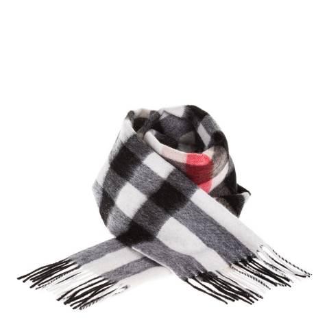 Edinburgh Lambswool Red Black Lambswool Tartan Scarf