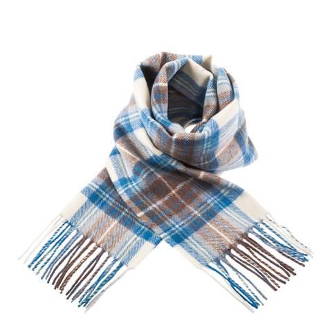 Edinburgh Lambswool Stewart Muted Blue Lambswool Tartan Scarf