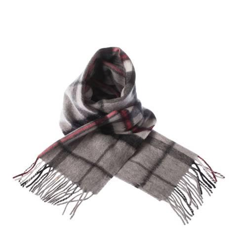 Edinburgh Lambswool Thomson Grey Lambswool Tartan Scarf