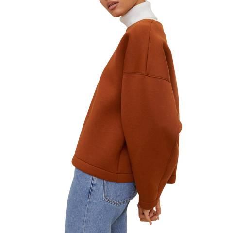 Mango Russet Oversized Structured Sweatshirt