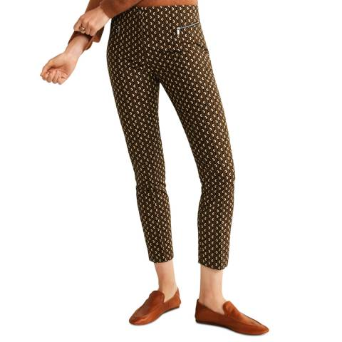 Mango Mustard Geometric Print Trousers