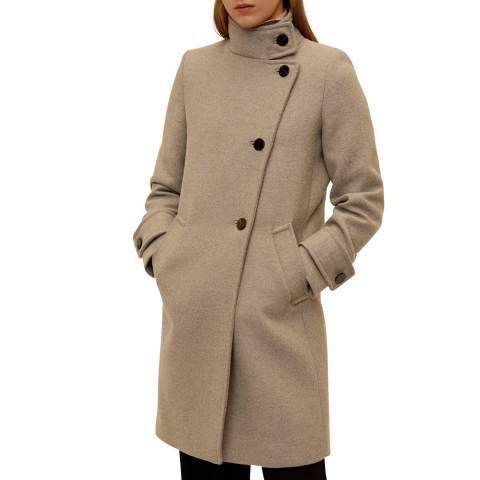 Mango Beige Side Closure Coat