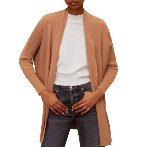 Mango Medium Brown Fine-Knit Cardigan