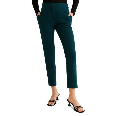 Mango Khaki Cotton Suit Trousers