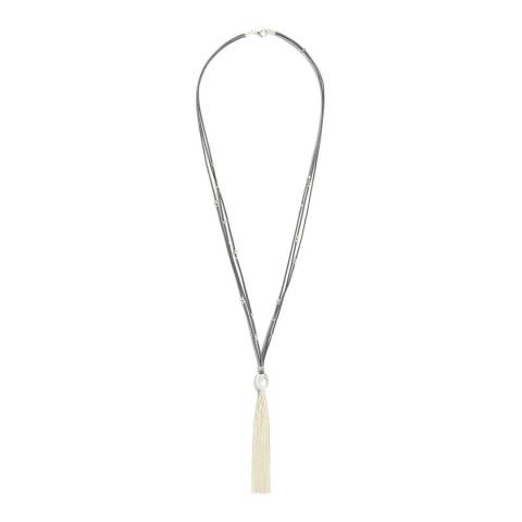 Phase Eight Silver Mary Tassle Necklace