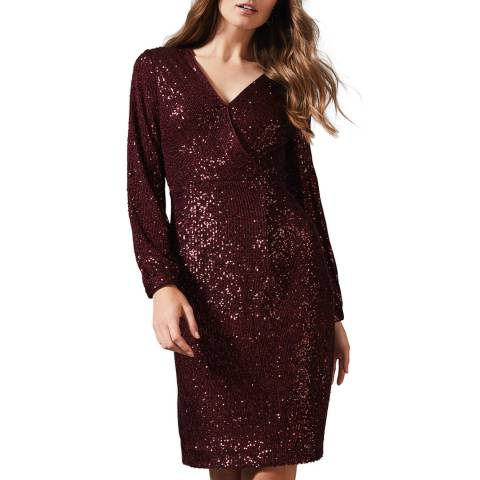 Phase Eight Red Kalena Sequin Dress