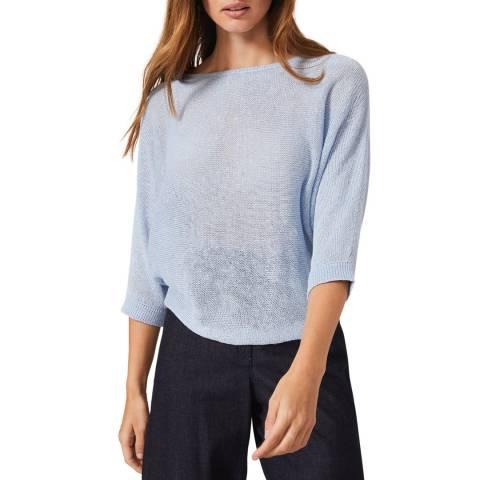 Phase Eight Blue Delmi Linen Knit Top