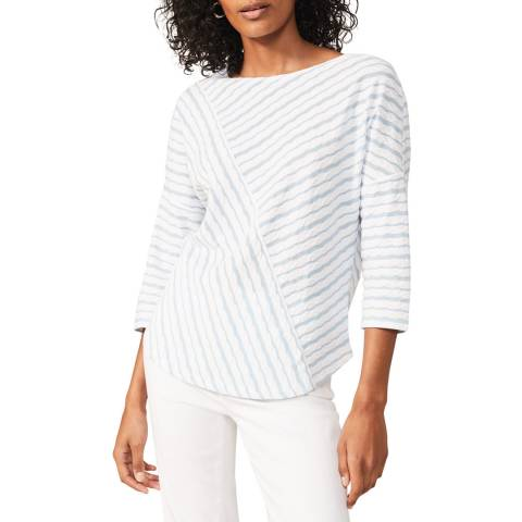 Phase Eight Blue Tabby Stripe Top
