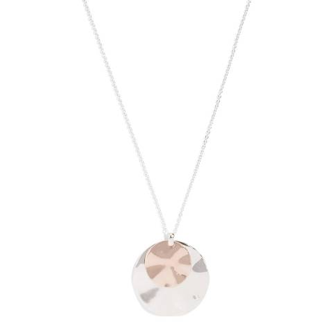 Phase Eight Silver/Rose Leona Disc Pendant Necklace