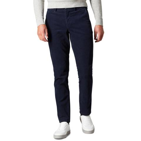 Remus Uomo Navy Slim Stretch Cord Trousers