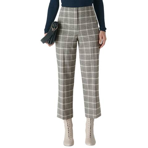 WHISTLES Multi Courtney Check Trousers