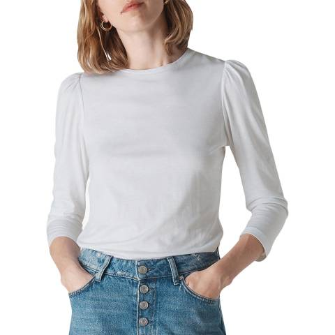 WHISTLES White Puff Sleeve Top