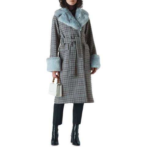 WHISTLES Multi Faux Fur Collar Coat