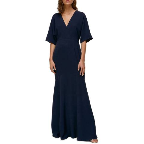 WHISTLES Navy Jess Maxi Dress