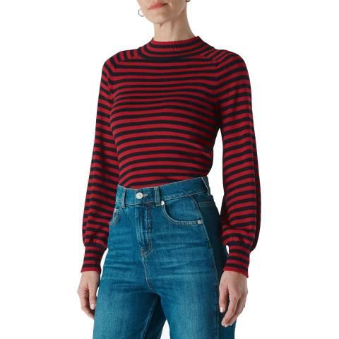 WHISTLES Multi Stripe Cotton Blend Jumper