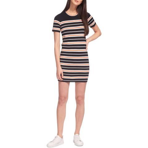 WHISTLES Multi Milano Stripe Knitted Dress