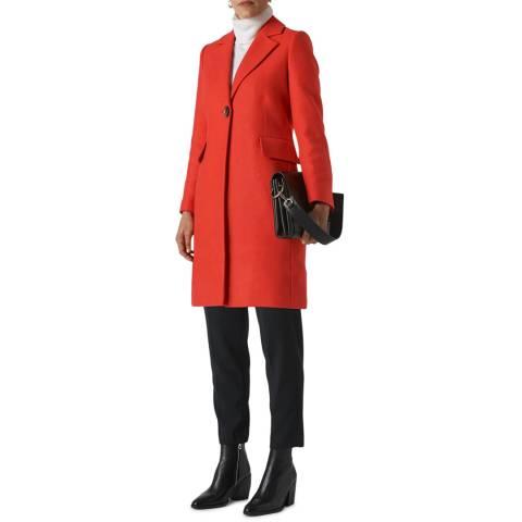 WHISTLES Red Clara Wool Blend Coat