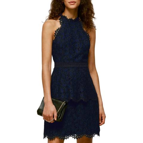 WHISTLES Black Talie Lace Dress
