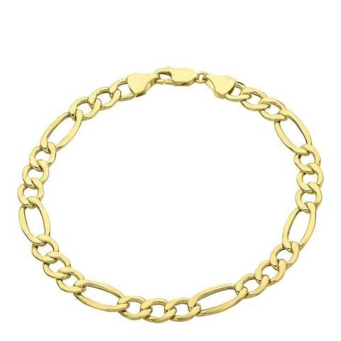 Liv Oliver 18K Gold Plated Figaro Bracelet