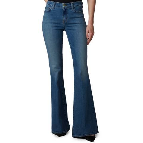 J Brand Blue Valentina Flared Stretch Jeans