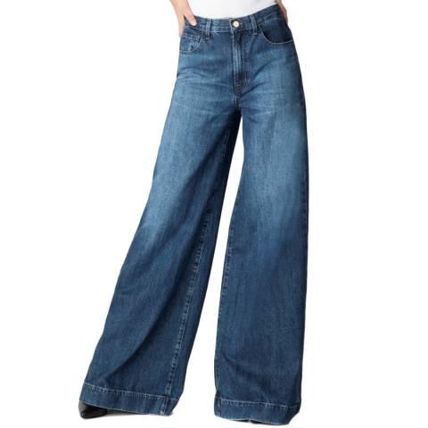 J Brand Mid Blue Thelma Super Wide Leg Jeans
