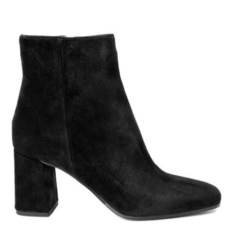 Fashion Attitude Black Suede Crosta Ankle Boot