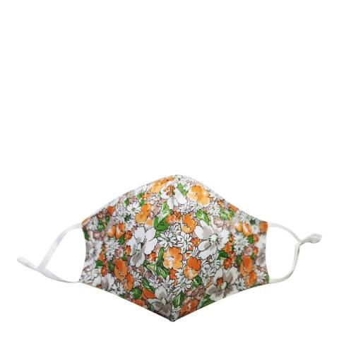 JayLey Collection Green/White Floral Cotton Face Mask