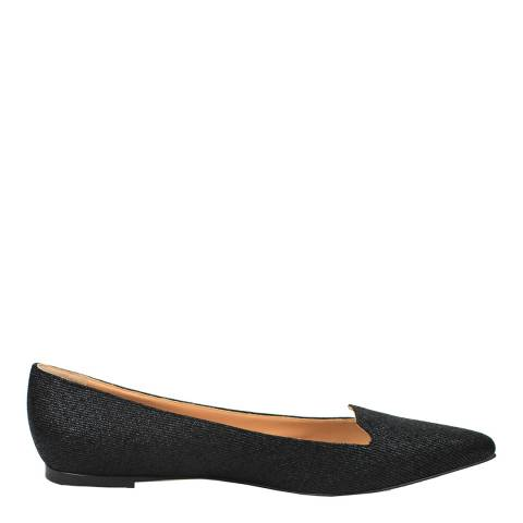 Sergio Rossi Black Denim Effect Luxe Loafers