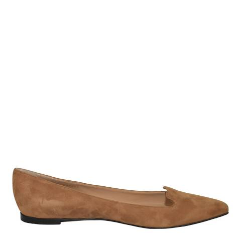 Sergio Rossi Tan Calf Suede Luxe Loafers