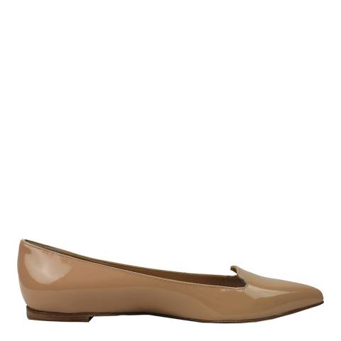Sergio Rossi Nude Patent Leather Luxe Loafers