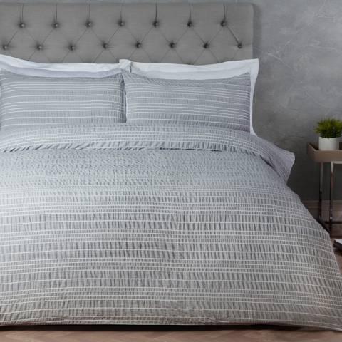 Sleepdown Stripe Double Duvet Cover Set, Marl