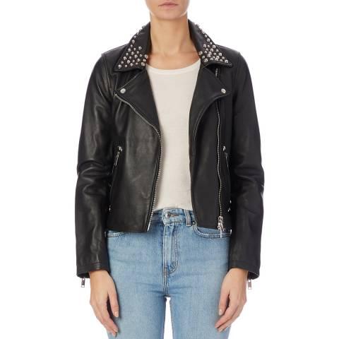 Bolongaro Trevor Black Hannah Leather Biker Jacket