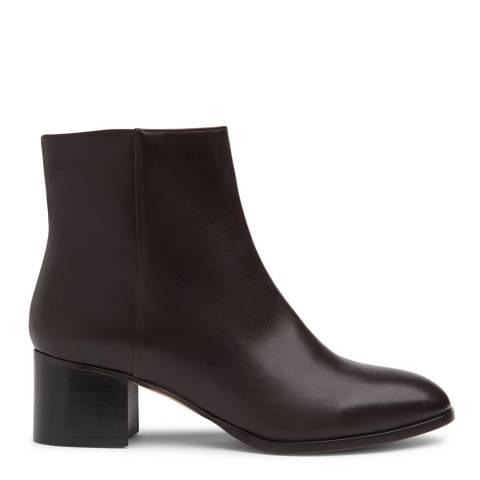 L K Bennett Black Smooth Leather Dayna Ankle Boots