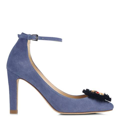 L K Bennett Powder Blue Suede Gwen Closed Courts