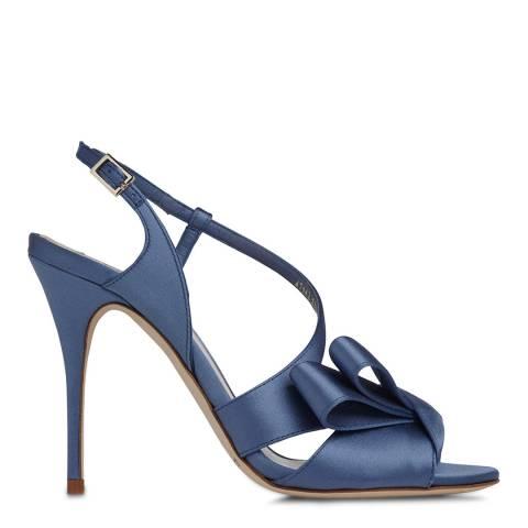 L K Bennett Powder Blue Satin Erica Formal Sandals