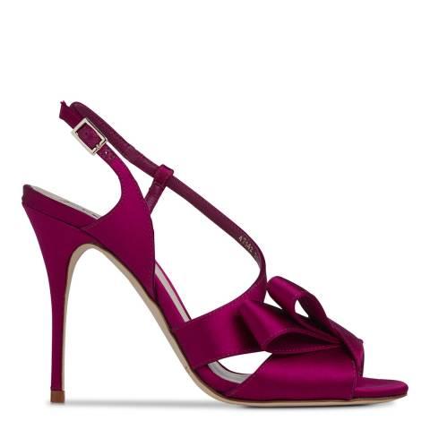 L K Bennett Fuchsia Satin Erica Formal Sandals