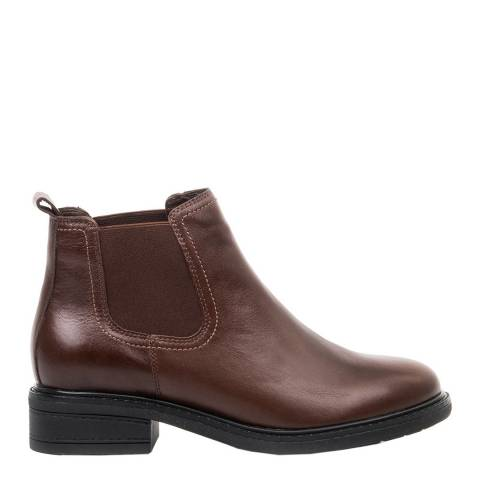 Belwest Brown Leather Chelsea Style Boots