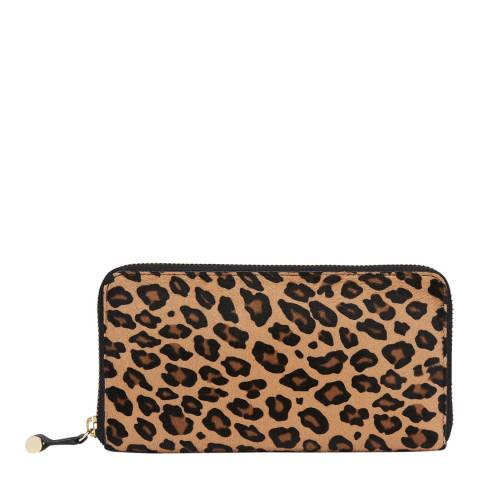 L K Bennett Natural Leopard Kenza Purse