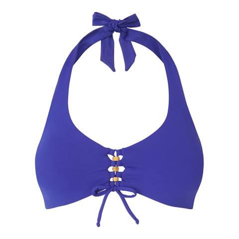 L K Bennett Klein Blue Claudia Bikini Top