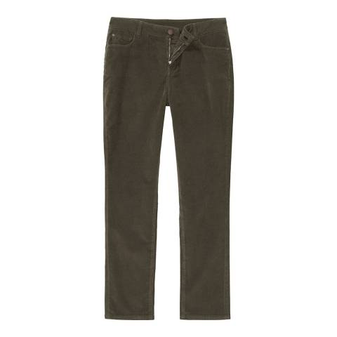 Crew Clothing Khaki Cord Slim Trouser