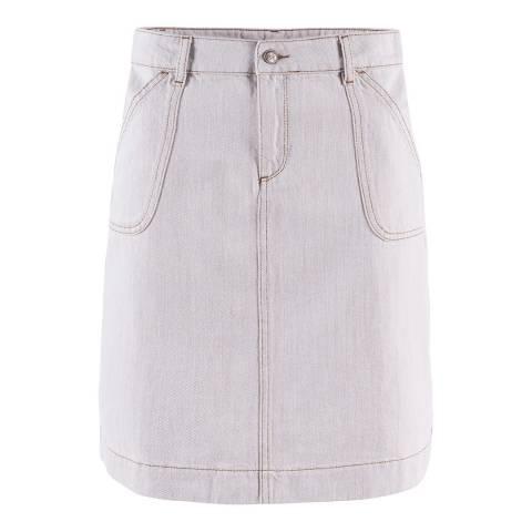 Crew Clothing White Ecru Denim Skirt