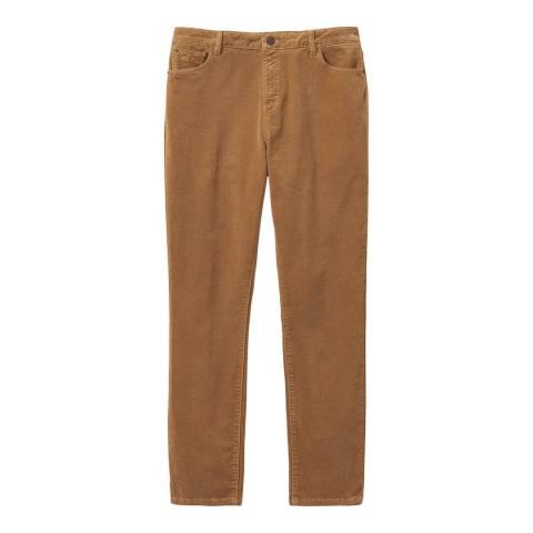 Crew Clothing Brown Velvet Trousers